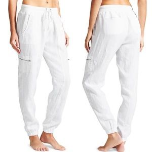 Athleta Linen White Jogger Pants